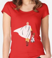 Saitama - One Punch Man Women's Fitted Scoop T-Shirt