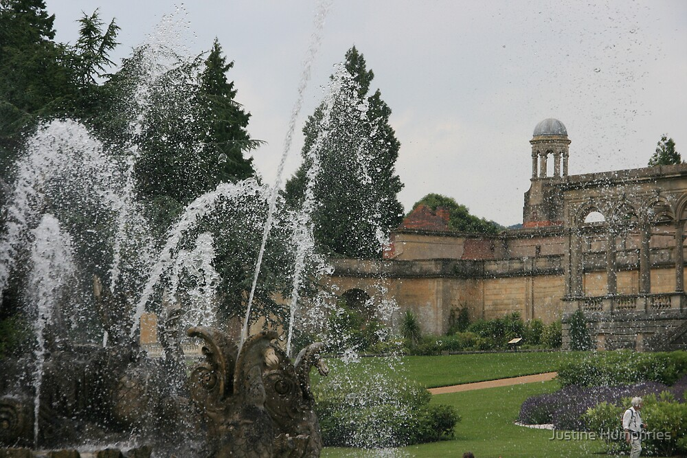 Through the fountain - Witley Court by Justine Humphries