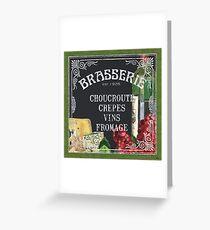 Brasserie Paris Greeting Card