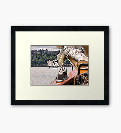 Off the Bow Framed Print
