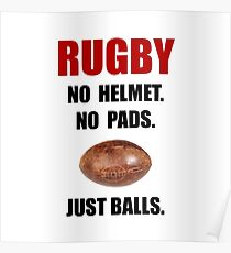 Rugby Balls Poster