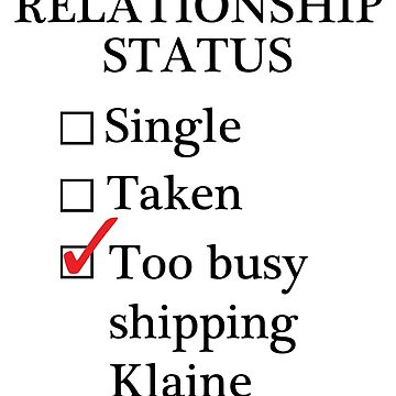 Relationship Status - Too Busy Shipping Klaine by A-Starry-Night