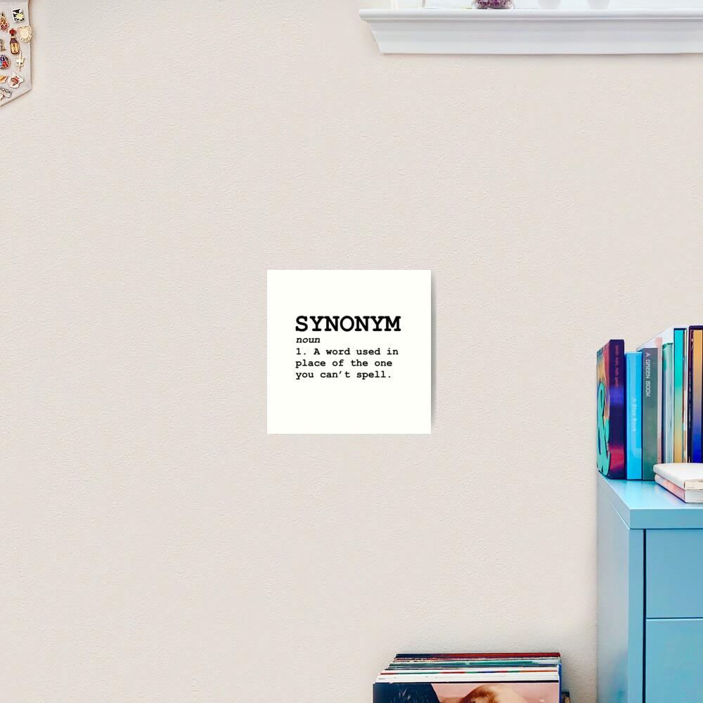 print on demand synonym