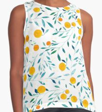 Orange Tree Contrast Tank