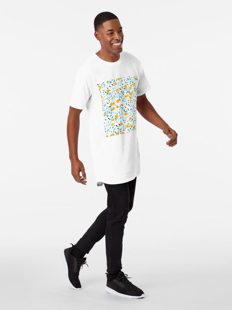 Vista alternativa de Camiseta larga Naranjo
