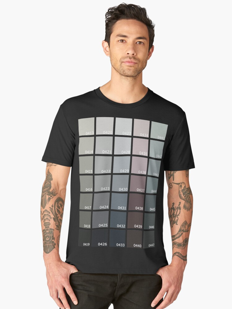 Shades of Grey Pantone Men's Premium T-Shirt Front