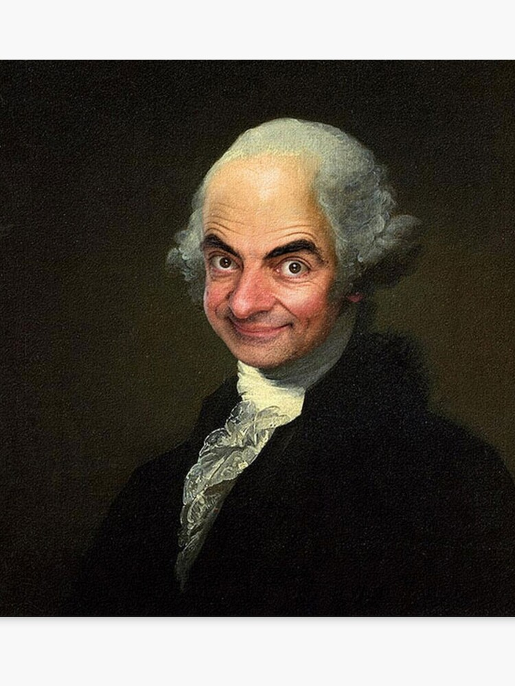 picture about Printable Pictures of George Washington identified as Mr Bean/George Washington Canvas Print