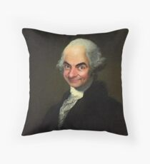 Mr Bean/George Washington Throw Pillow