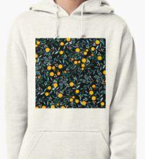 Oranges on Black Pullover Hoodie