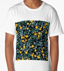 Oranges on Black Long T-Shirt