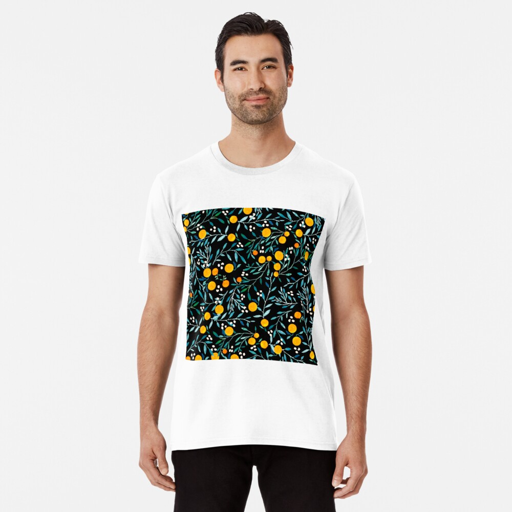 Oranges on Black Premium T-Shirt