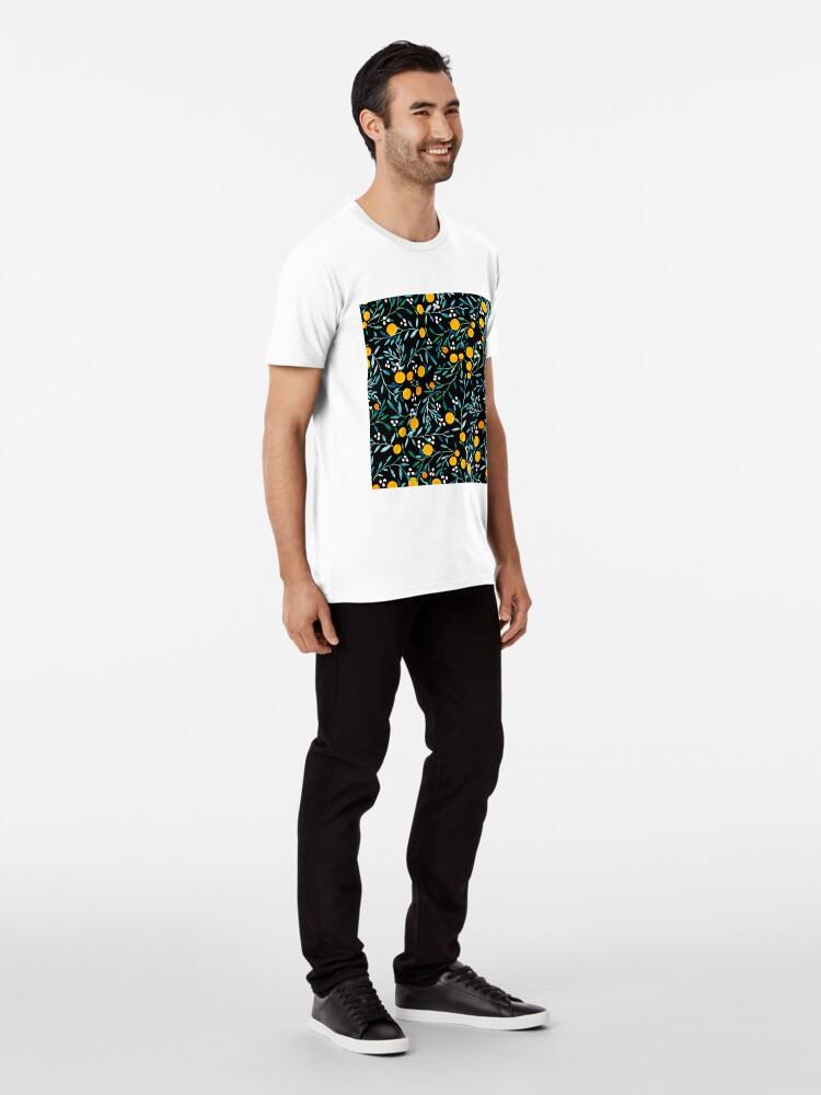 Alternate view of Oranges on Black Premium T-Shirt