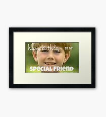 kazoo kid birthday card Framed Print