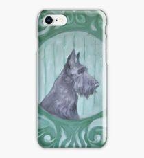 cute painted black terrier iPhone Case/Skin