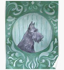 cute painted black terrier Poster