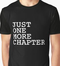 Just One More Chapter - Reading Books Nerd Geek Read Page Manga Comics Graphic T-Shirt