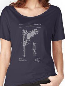 Gun - Pistol - 1904 Luger Patent Art Women's Relaxed Fit T-Shirt