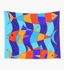 Elsebius - Tres Pescados Wall Tapestry