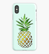 Pineapple Design on a Sunflower Sticker iPhone Case/Skin