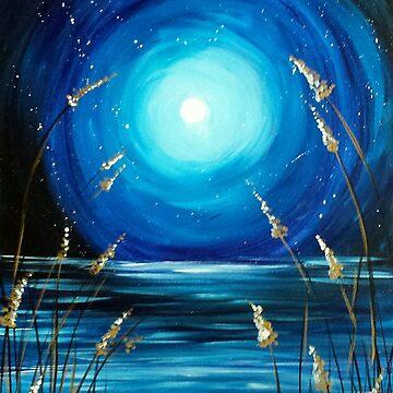 Moonlight Over Wheat Grass by JABK