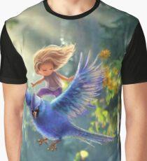 Bird BLUE  Graphic T-Shirt