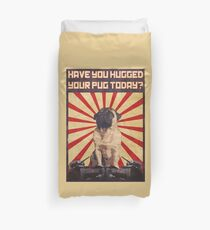 Propaganda Pug Duvet Cover