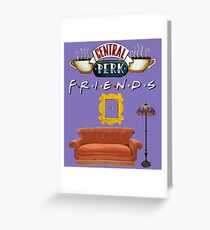 Classic Friends, purple Greeting Card
