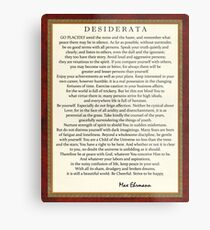 Desiderata Poem on Parchment-Traditional Metal Print