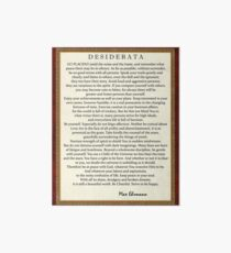 Desiderata Poem on Parchment-Traditional Art Board