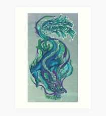 Imperial Water Dragon Art Print