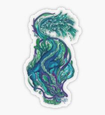Imperial Water Dragon Transparent Sticker
