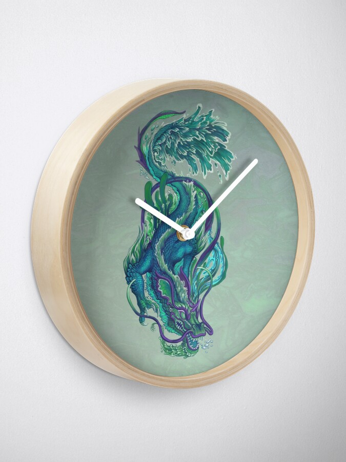 Alternate view of Imperial Water Dragon Clock