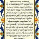 Desiderata Poster with Art Deco Floral Border by Desiderata4u
