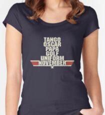Top Gun Alphabet Women's Fitted Scoop T-Shirt