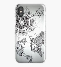 Continents & Compass  iPhone Case/Skin