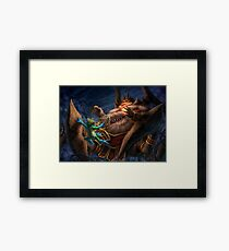 Slippery Framed Print