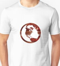 Wooden Globe Design  T-Shirt