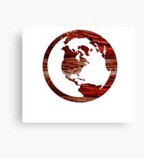 Wooden Globe Design  Canvas Print
