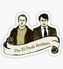 Peep Show - The El Dude Brothers Sticker