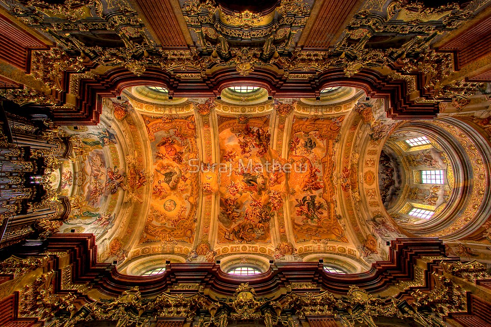 Abbey Church, Melk, Austria by Suraj Mathew