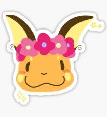 Flower Crownned Raichu Sticker