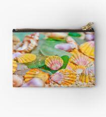 Sunrise Shells & Sea Glass Studio Pouch