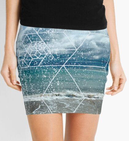 Nature and Geometry - The beach Mini Skirt