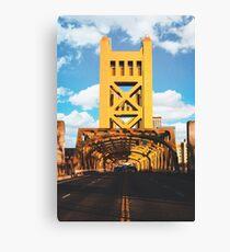 The Tower Bridge - Sacramento, CA Canvas Print