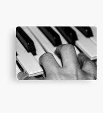 Hand and keyboard Canvas Print