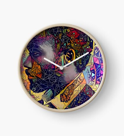 Abstract Donald Glover Clock