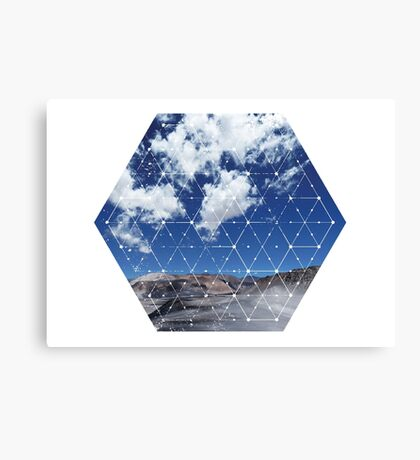 Nature and Geometry - Landscape Canvas Print