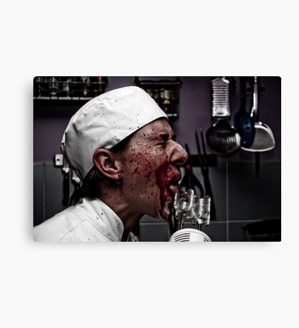 Shoot The Chef II Canvas Print