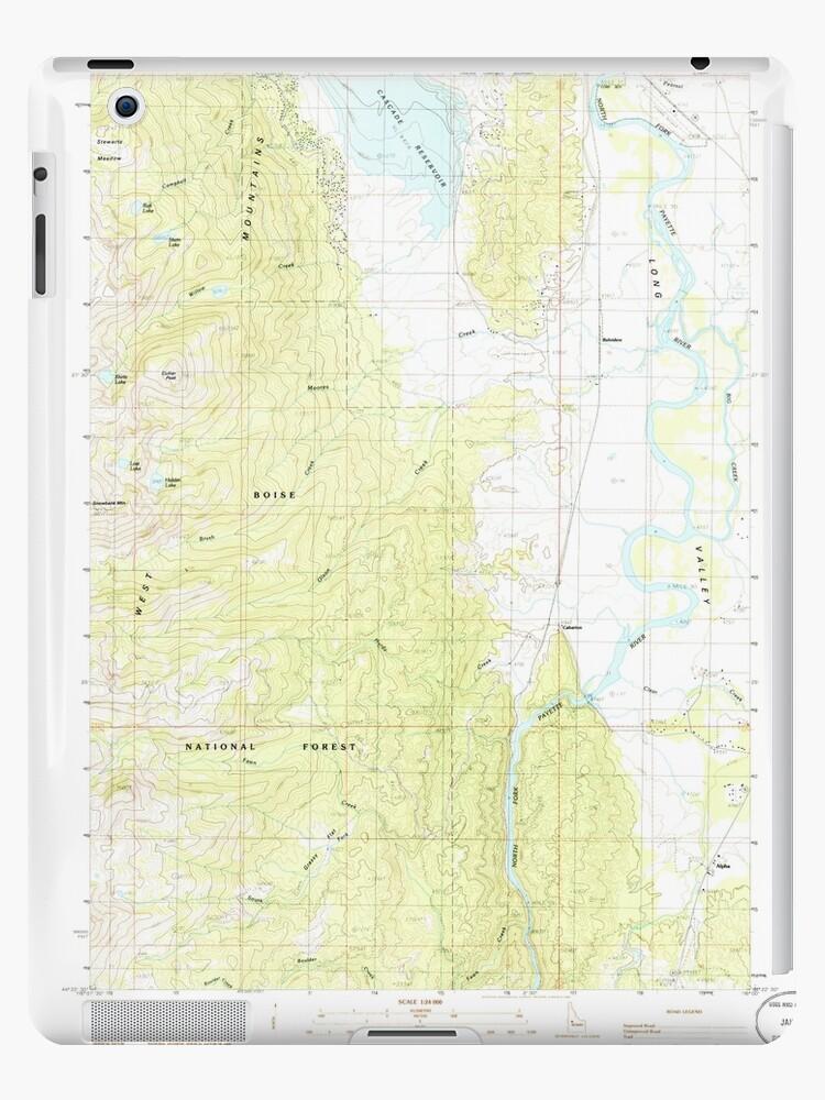USGS TOPO Map Idaho ID Alpha 235062 1985 24000 by wetdryvac