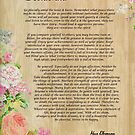Desiderata Poem on Wood Plank with Floral Accent by Desiderata4u